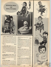 1969 PAPER AD Remco Tumbling Tom Boy Baby Bunny Crissy April Shower Tippy Tumble