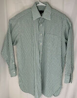 Robert Talbots men's size 16 33 plaid long sleeve button down shirt