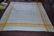 "Vintage Linen Tablecloth  46 x 48"" - #W"