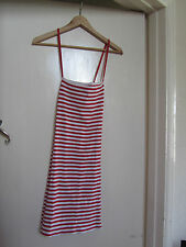 Red & White Stripe Stretch Cotton Moda International Dress in Size M / Size 10