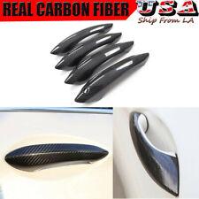 4x For BMW 2010-2015 520i 528i F07 F10 100% Carbon Fiber Door Handle Cover Decor