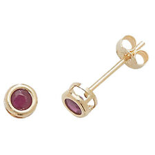 Unbranded 9 Carat Ruby Yellow Gold Fine Earrings
