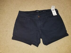 NWT Hollister Low Rise Twill Midi Shorts Navy 9 or 11