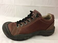 Keen Womens 8 Med Mahogany Red Brown Lace Up Oxford Sneaker Leather Shoes Casual