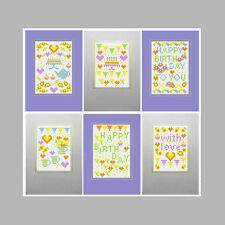 HAPPY BIRTHDAY PURPLE COUNTED CROSS STITCH RIVERDRIFT GREETINGS CARDS KIT
