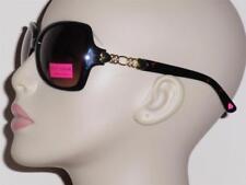 Betsey Johnson Oval Tortoise Chain Accent 100% UV Gradient Grays Sunglasses