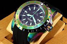 23742 Invicta 52mm Pro Diver Ocean Master Iridescent Case Black Strap Watch