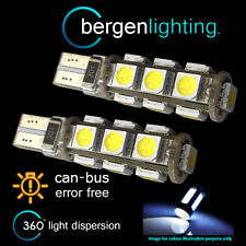 2X W5W T10 501 CANBUS ERROR FREE WHITE 13 LED INTERIOR COURTESY BULBS IL101801