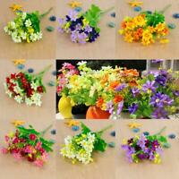 1 Bunch Artificial Fake Silk Flower Bouquet Home Wedding Party Decoration XN