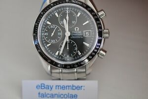 Omega Speedmaster  Chronometer automatic watch with date black dial