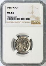 1937-S Buffalo Nickel 5c NGC MS65