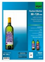 Print Your Own Printable A4 Sheets Glossy Bottle Labels 80 x 120 Inkjet 5 Sheets