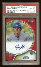 PSA 10 JERRY SANDS 2011 BOWMAN STERLING 1/1 RC AUTO RED REFRACTOR AUTOGRAPH  WOW