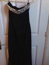 Black Mango Maxi Fishtail Dress Uk Size Small