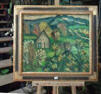 """HYLDA TODE -tableau huile sur toile   """" Le pin au Haras  """" dans l-Orne  1957"""
