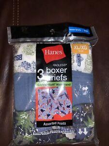 Boys XL Hanes Tagless comfortsoft boxer briefs pack of 3 Size XL (18-20) Robot