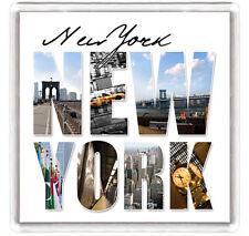 NEW YORK COLOUR VIEW FRIDGE MAGNET SOUVENIR IMAN NEVERA