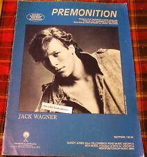 PREMONITION Jack Wagner Sheet Music 1984 Vintage Song Book Quincy Jones