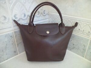 Longchamp in brown   leather  handbag