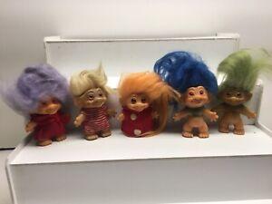Vintage Lot of Trolls 1960's