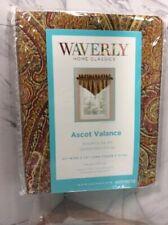 Waverly Cashmere Ruby 0379273 Ascot Rod Pocket Cotton Valance 52 x 20