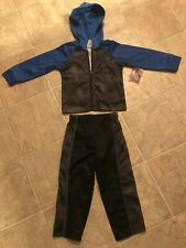 boys 2-piece polyester blue gray & black jogging suit size 2T Made Game