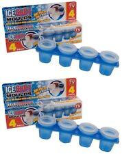 8 X Molde de disparo de Hielo Bandeja Vaso Gafas congelar para bebidas o Fiesta Barbacoa