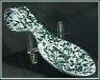 Hunter GREEN & WHITE Marble Enamelware Spoon Rest Holder NEW Hangs Too w Hole