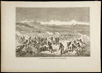 1860 - Indianer Choctaws (Chactas) - Gravur - Gustave Golden