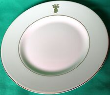 "WEDGEWOOD VERA WANG SET 4 GREEN PINEAPPLE 9"" ACCENT SALAD PLATES BONE CHINA NEW"