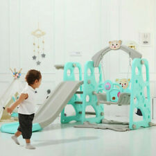 3 in 1 Toddler Indoor/Outdoor Playground Climber And Swing Set Slide Playset Toy
