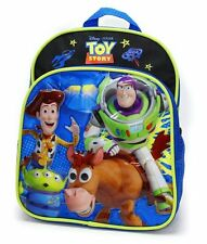 """Licensed Disney Toy Story Black Boys 10"""" Toddler Backpack Woddy & Buzz"""