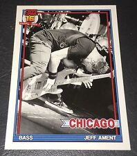 PEARL JAM Wrigley Baseball Card - Jeff Ament 6 bent - 2016 Chicago pack cubs