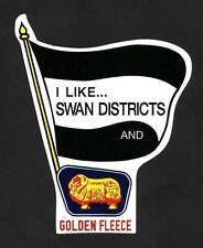 7I LIKE SWAN DISTRICTS & GOLDEN FLEECE Vinyl Decal Sticker PETROL afl vfl WAFL
