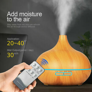 Electric Air Diffuser Aroma Remote Humidifier Night Light Up Home Relax UK