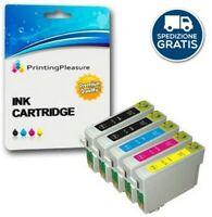5 Cartucce d'inchiostro compatibili per Epson T0711 T0712 T0713 T0714 T0715 Styl