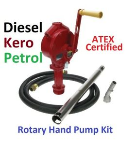 ROTARY HAND PUMP - HEAVY DUTY - FOR PETROL AND DIESEL - **KIT**