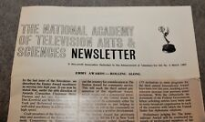 1965 THE NATIONAL ACADEMY OF TELEVISION ARTS & SCIENCES NEWSLETTER EMMY AWARDS