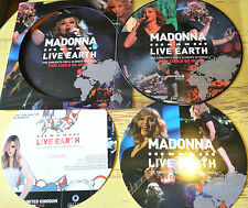 "MADONNA LIVE EARTH CONCERT FOR CLIMATE  CRISIS LONDON 2007 LP 12"" PICTURE DISC"