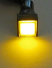 Panel Mount Square LED Indicator - Amber - Plastic Case - 3 to 12 V DC - 12 mm