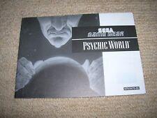 PSYCHIC WORLD - Rare  Sega Game Gear Instruction Booklet