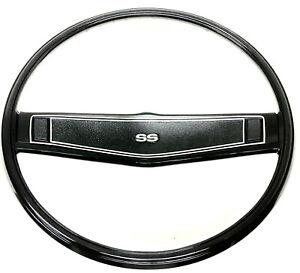 1969 Chevelle SS steering wheel Black correct madrid grain Nova Impala