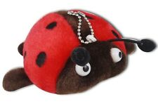 Red Ladybug Soft Plush Stuffed Animal Keychain New