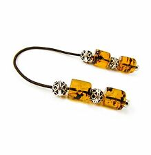 Begleri Mini Komboloi Greek Worry Beads Plastic Tube Beads Silvertone Metal Bead