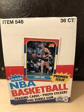 1986-87 Fleer Basketball Empty Box