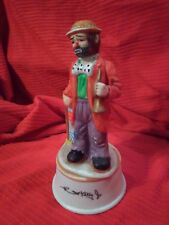 Emmett Kelly Jr Clown Figurine Flambro / Music Box