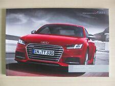 Audi TTS & TT Coupe & Roadster - UK Sales Brochure (2015  / 2016) Ed 3.0