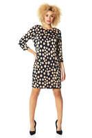 Roman Originals Women Spot Tunic 3/4 Sleeve Dress