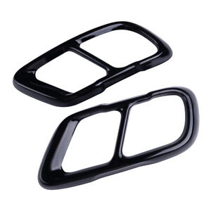 2x Exhaust Muffler Tips Cover Fit For BMW X5 G05 X7 Tail Pipe End Black Trim mu