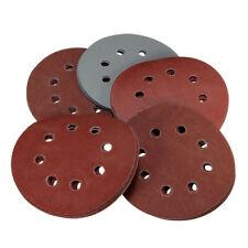 25x 5Inch/125mm 8Hole Hook Loop Sanding Discs 80-2000Grit Orbital Sandpaper Pad
